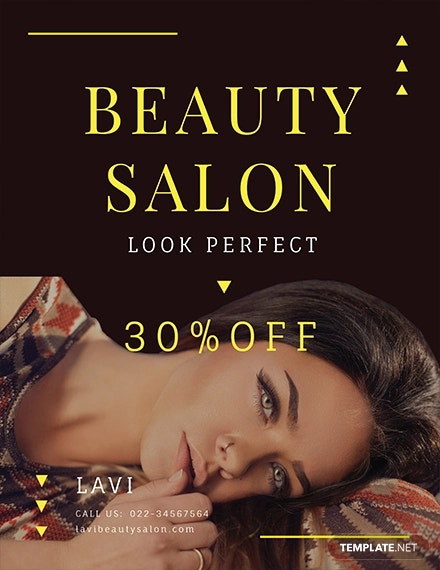 free beauty salon flyer template2