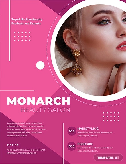 free beauty salon flyer