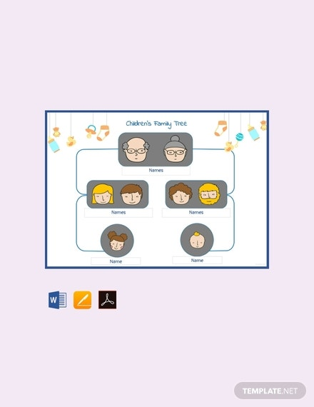 free childrens family tree template