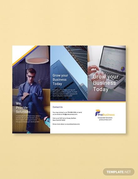 free corporate business brochure template 1x1
