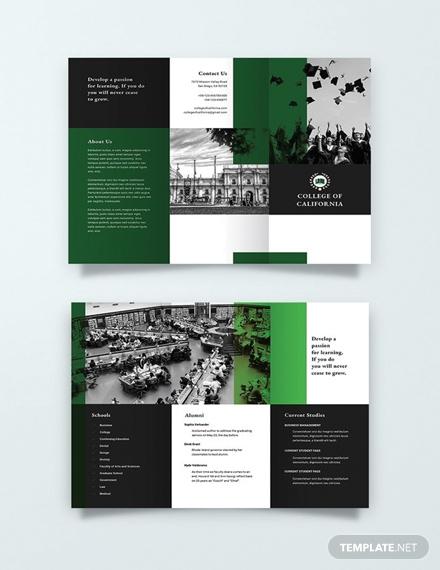 free creative college brochure template 1x