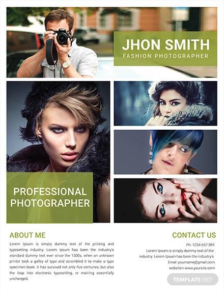 free fashion photography flyer