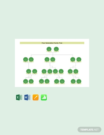 free four generation family tree template 440x570 1