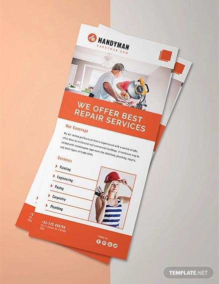 free handyman rack card template