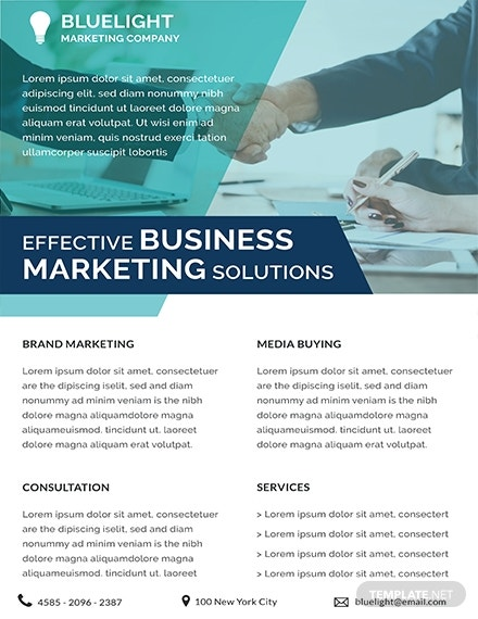 free investment marketing datasheet template