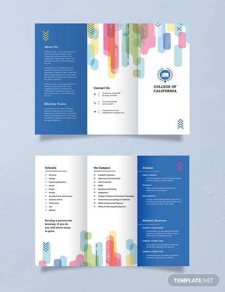 free modern college brochure template 1x