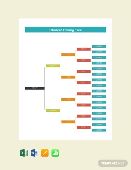 free modern family tree template