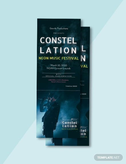 free music ticket template
