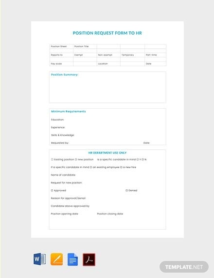 free position request form to hr