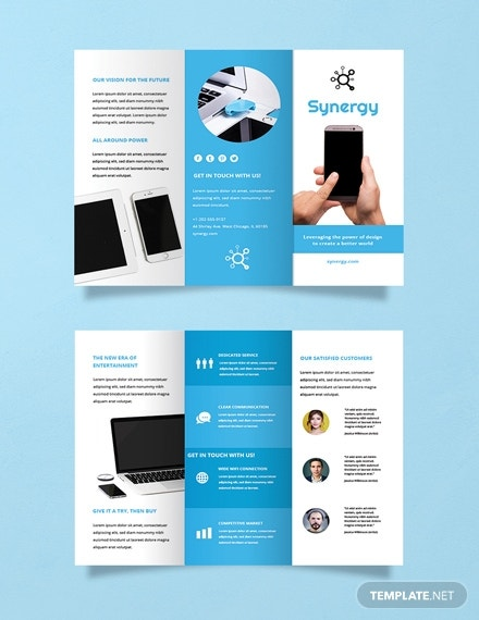 free product brochure template 2x