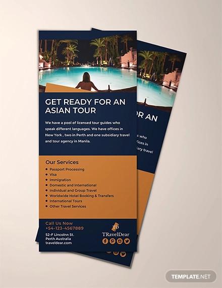 free travel rack card template