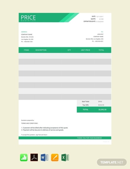 free web design quotation template 440x570 11