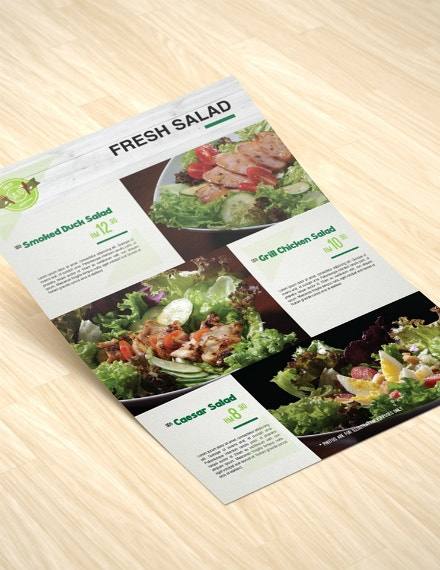 Fresh Salad Modern Menu Design