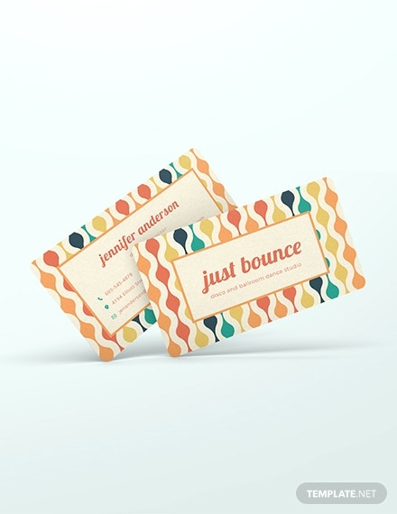 funky colors business card layout