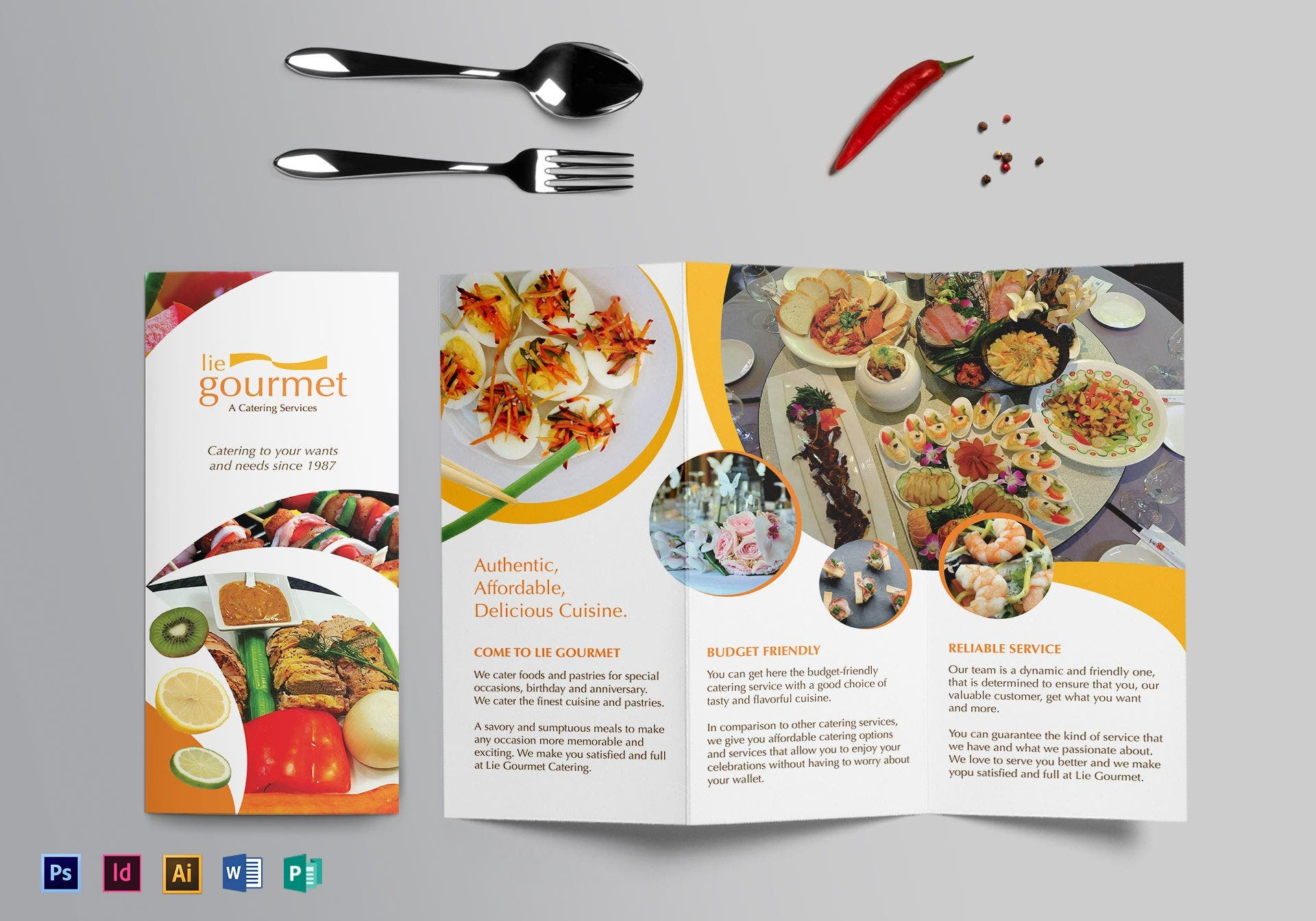 gourmet catering services brochure sample