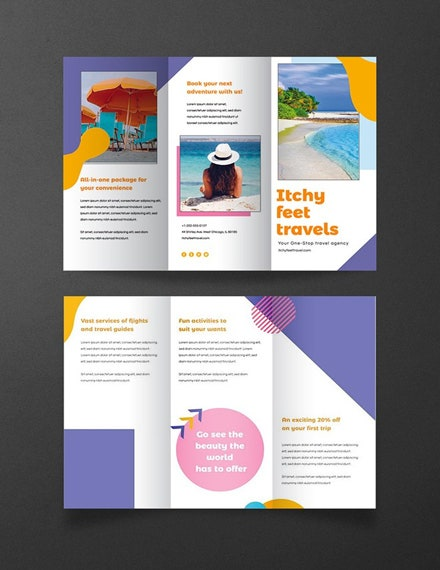 holiday travel brochure psd template