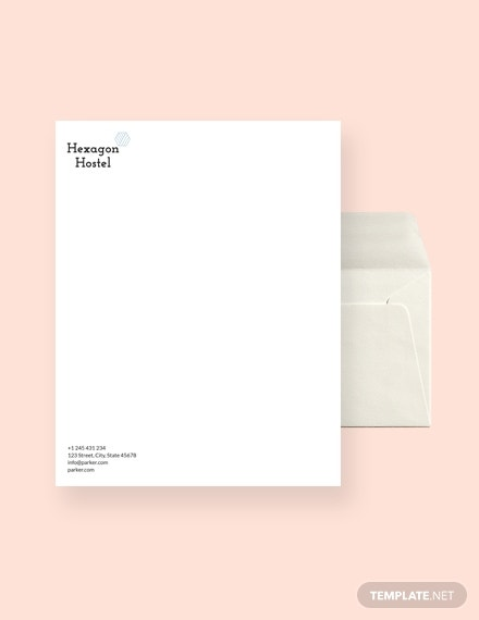 hostel envelope template
