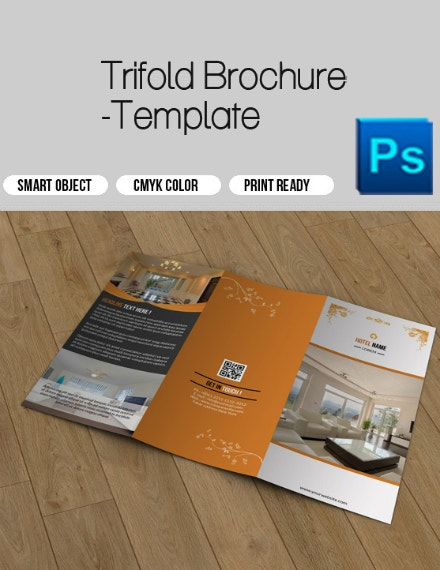 hotel business trifold brochure design