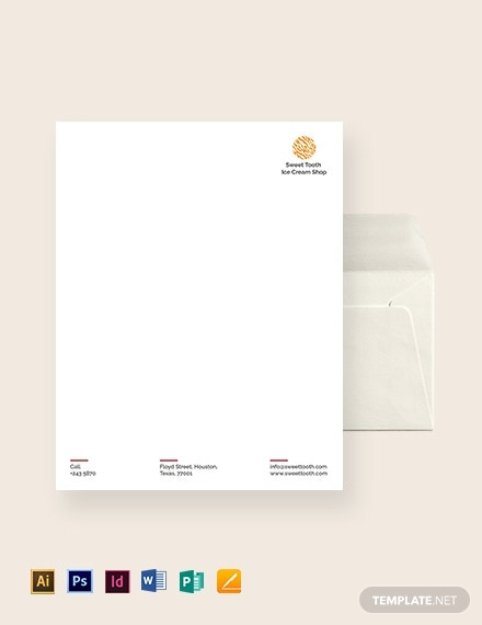 ice cream envelope template