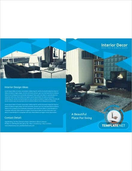interior decor bi fold brochure
