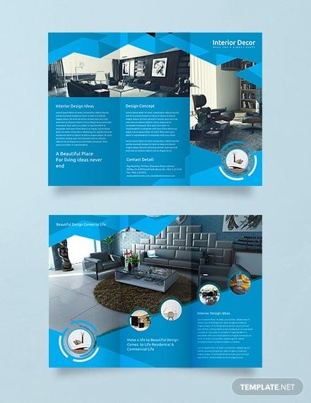 interior decor trifold brochure example