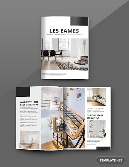 interior design catalog template