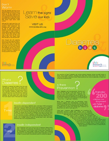Kids Diabetes Bifold Brochure Layout