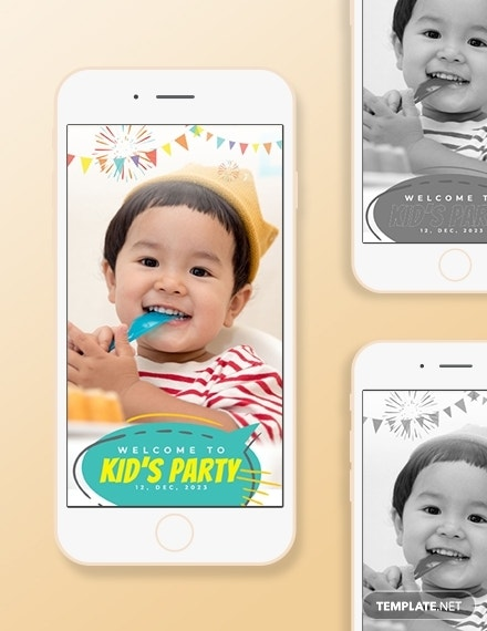 kids party snapchat geofilters template