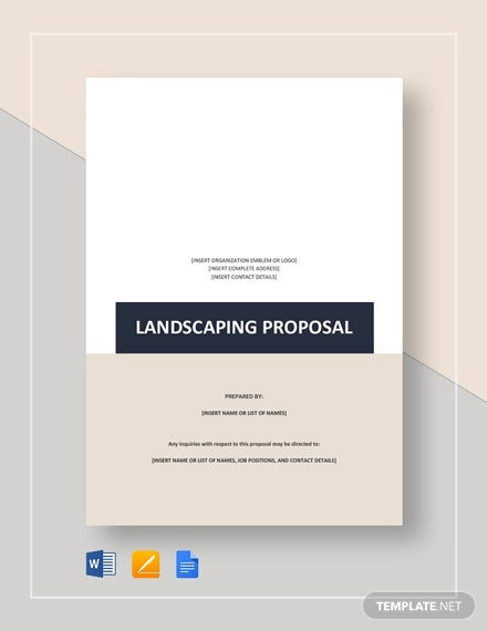 3 Landscaping Proposal Templates Word Pdf Pages Free Premium Templates