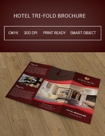 lorem hotel trifold brochure template