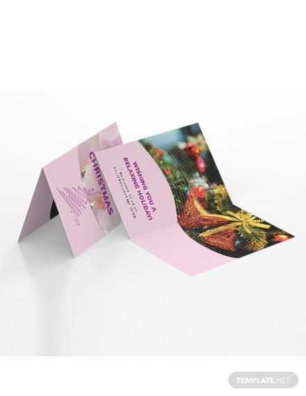 massage greeting card template