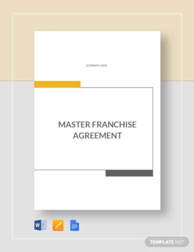 master franchise agreement template documents
