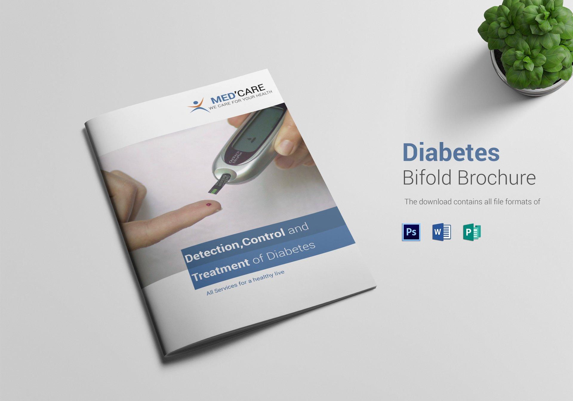 medcare diabetes bifold brochure template