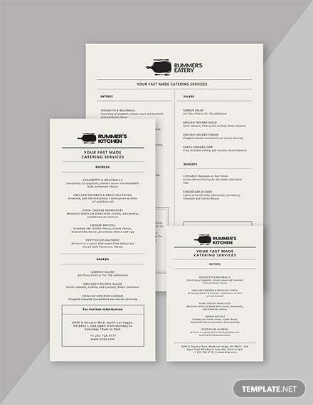 minimal birthday dinner menu design