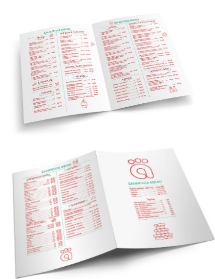 minimal buffet banquet menu template
