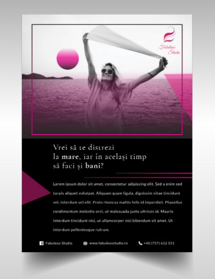minimalist modeling agency brochure sample