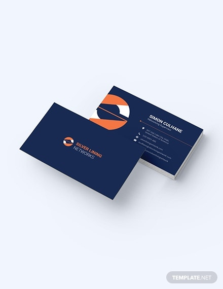 minimalist networking business card example