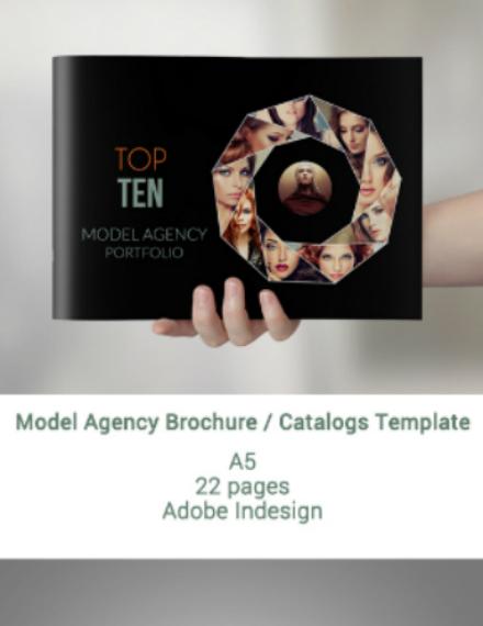 modeling agency brochure catalog template