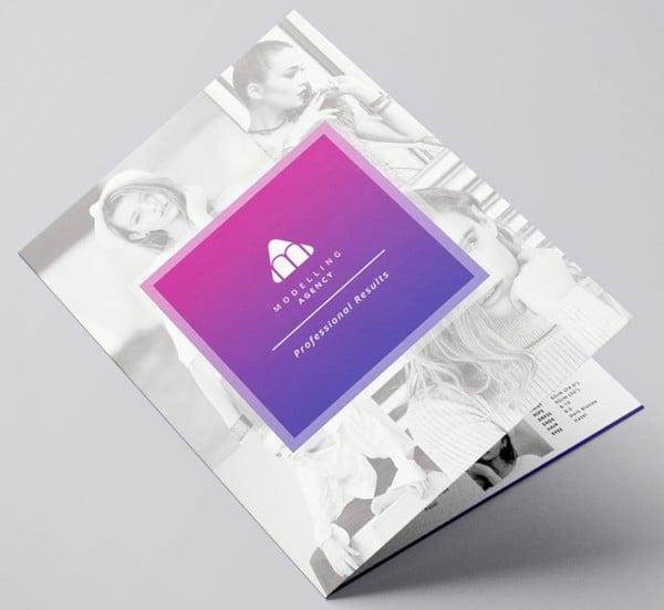 modelling agency brochure template