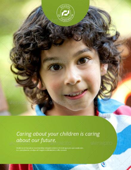 modern bifold child care brochure