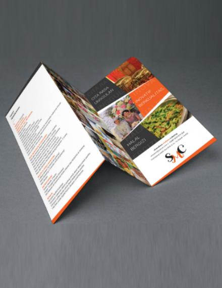 modern catering service brochure design