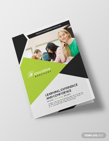 modern education brochure template front 440