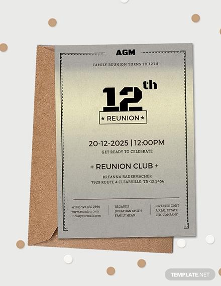 9 family reunion invitation templates  free  premium