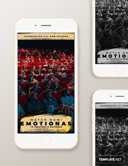 movie snapchat geofilters template