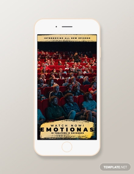 movie snapchat geofilters template1
