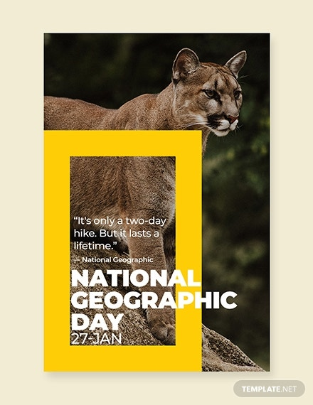 national geographic day pinterest pin template