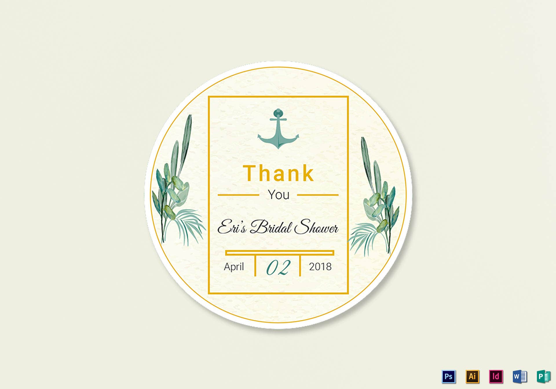 nautical wedding label example