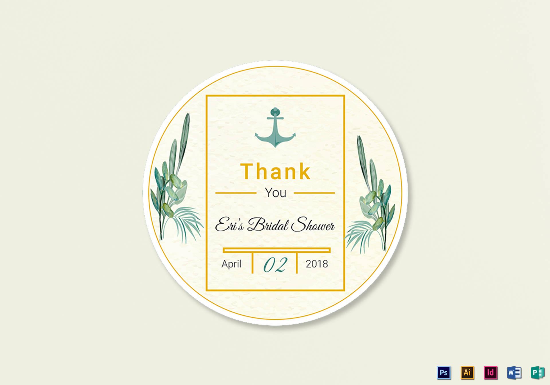 nautical wedding label template