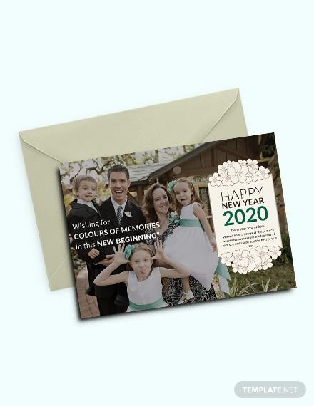 new year photo invitation format