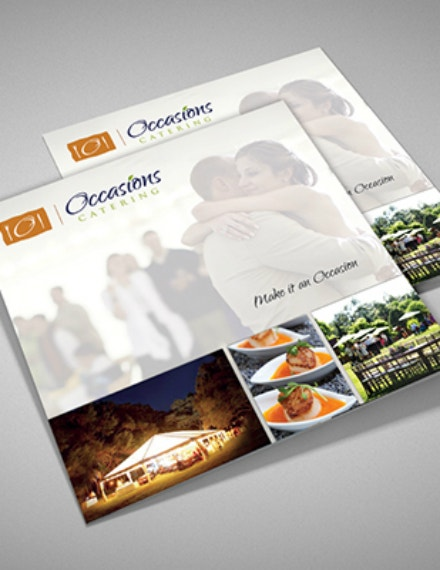 occasions catering brochure format
